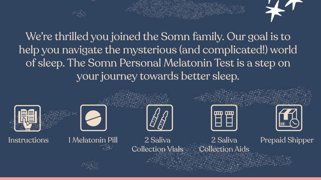 Somn Personal Melatonin Test instructions