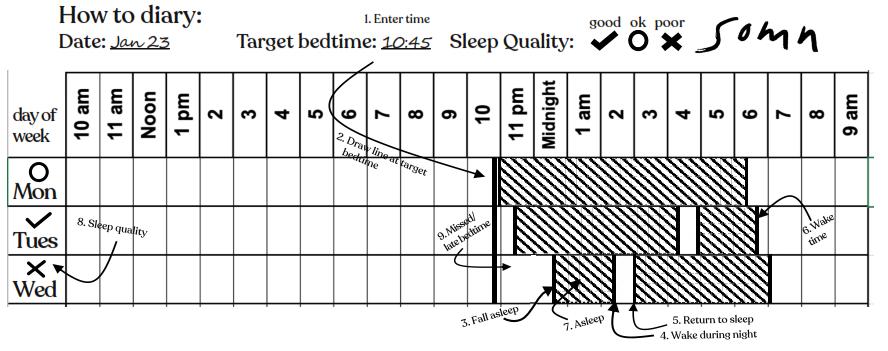 Sonm Sleep Journal entered